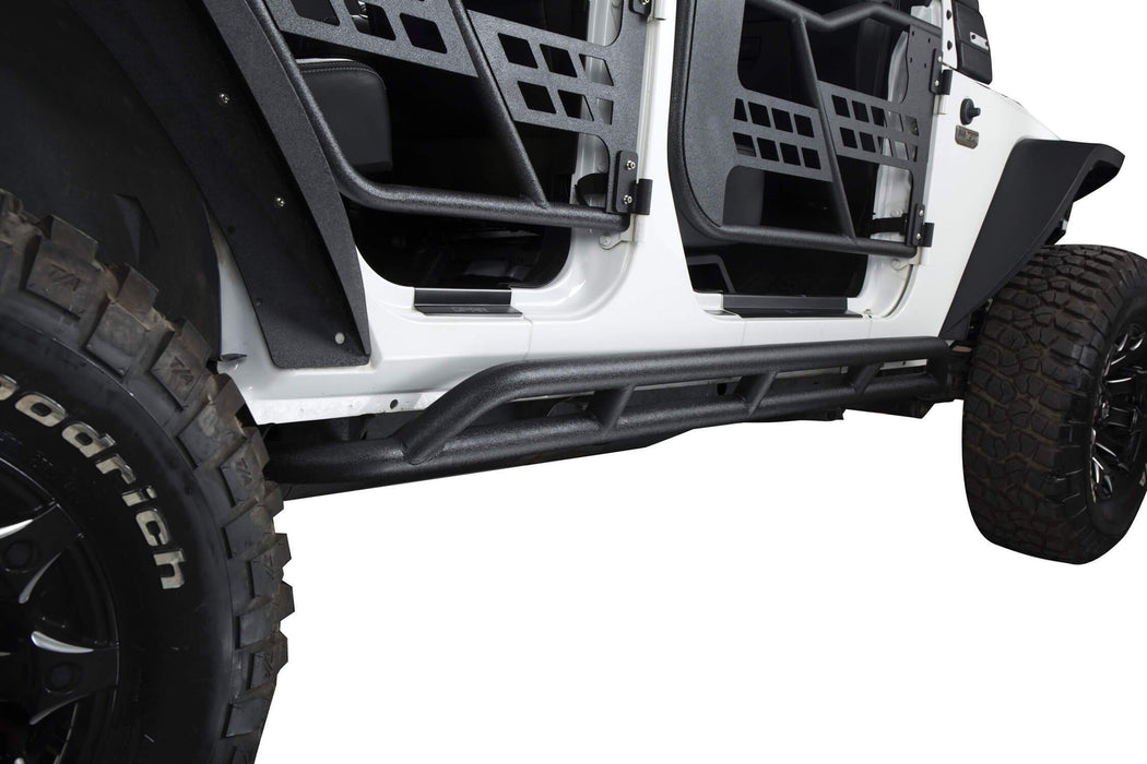 Hooke Road Opar Jeep Wrangler JKU Nerf Bars Running Boards Door Guards u-Box offroad 5