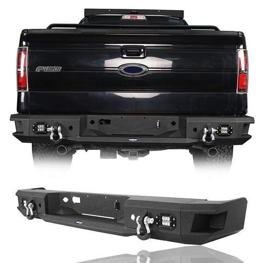 Hooke Road Rear Bumper w/license plate light(06-14 Ford F-150)