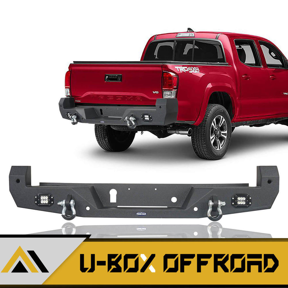 Rear Bumper w/18W LED Floodlights(16-21 Toyota Tacoma)