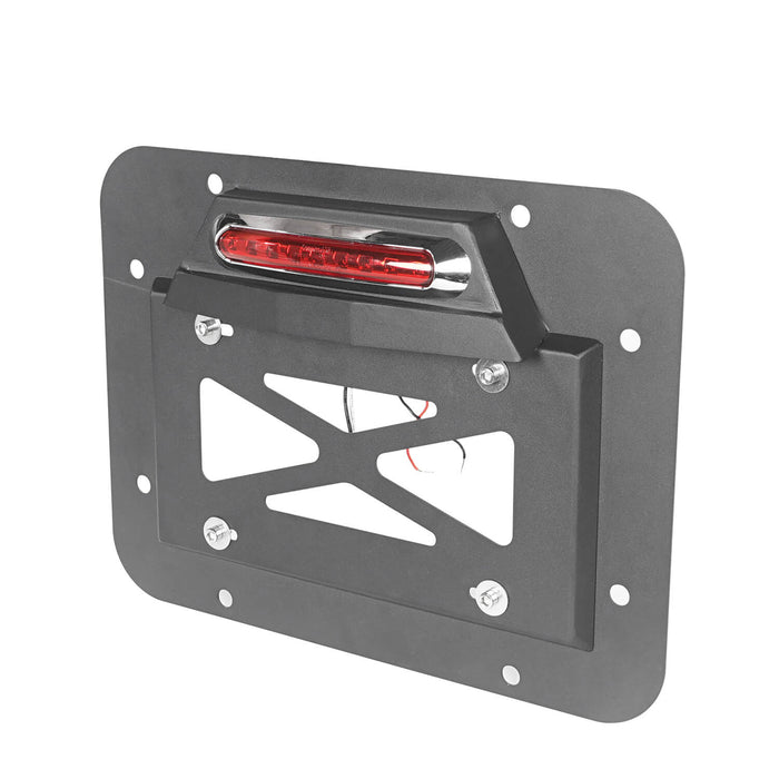 Hooke Road Rear License Plate Bracket with Light for Jeep Wrangler JK 2007-2018 MMR1805 Jeep Rear License Plate Bracket 6