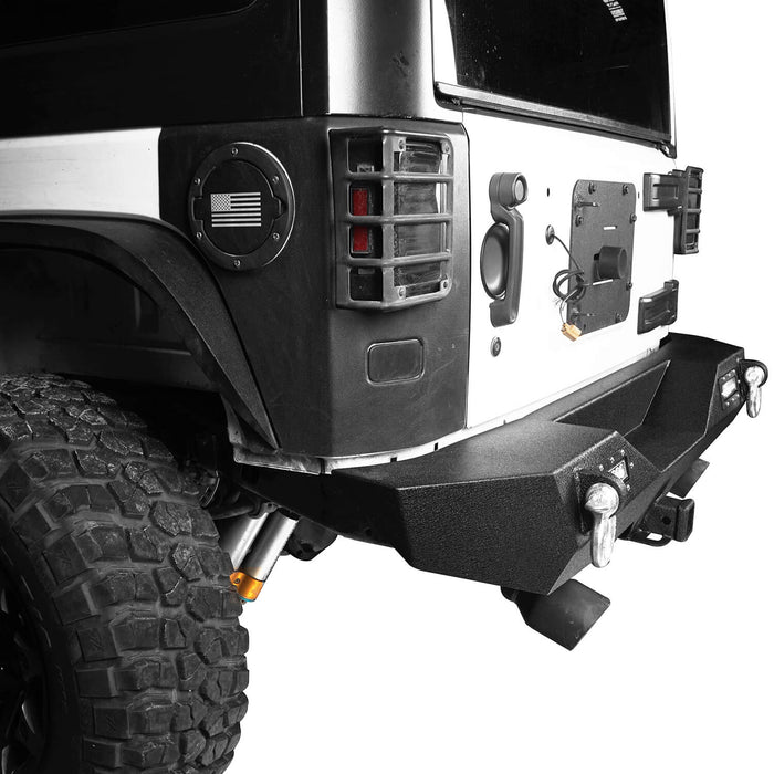 Hooke Road Opar Rock Crawler Front Bumper & Different Trail Rear Bumper Combo Kit for 2007-2018 Jeep Wrangler JK JKU BXG038116 u-Box offroad 11