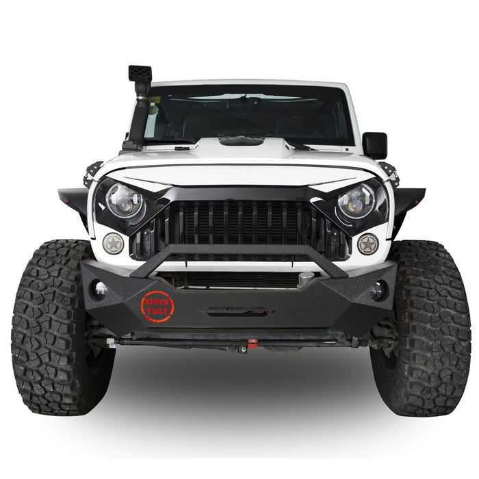 Hooke Road Opar Rock Crawler Front Bumper & Different Trail Rear Bumper Combo Kit for 2007-2018 Jeep Wrangler JK JKU BXG038116 u-Box offroad 5