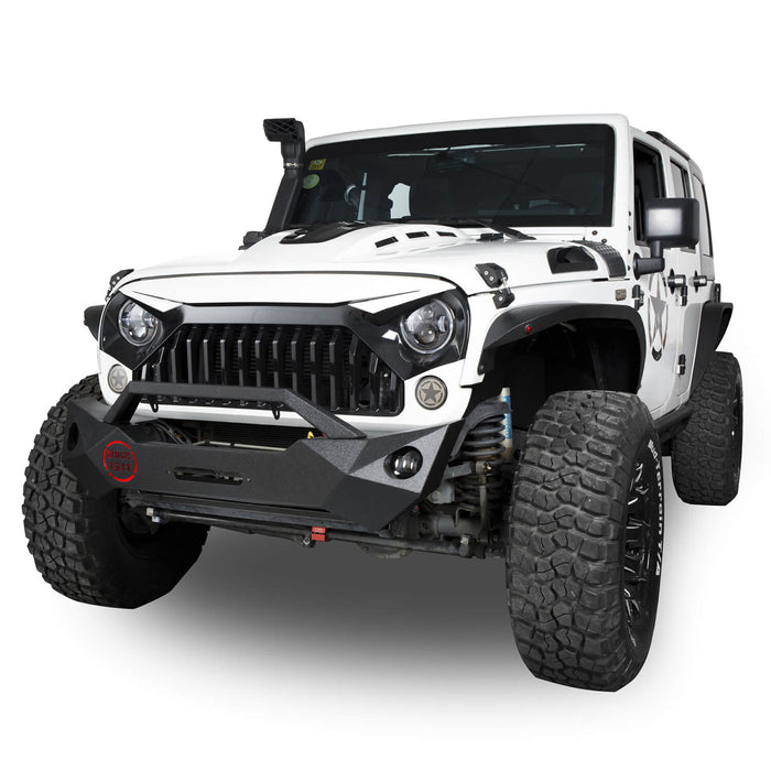 Hooke Road Opar Rock Crawler Front Bumper & Different Trail Rear Bumper Combo Kit for 2007-2018 Jeep Wrangler JK JKU BXG038116 u-Box offroad 6
