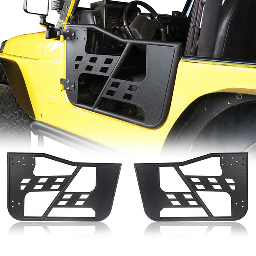 Hooke Road Opar Rock Crawler Tubular Door Guards for 1997-2006 Jeep Wrangler TJ u-Box 1