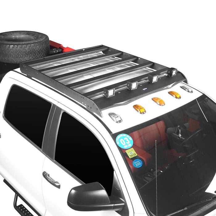 "Hooke Road® Crewmax Roof Rack, MAX 13"" High Bed Rack, Roll Bar Bed Rack(14-21 Toyota Tundra)"
