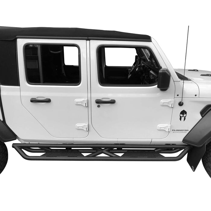 Hooke Road Running Boards Side Steps Nerf Bars(2020 Jeep Gladiator JT)