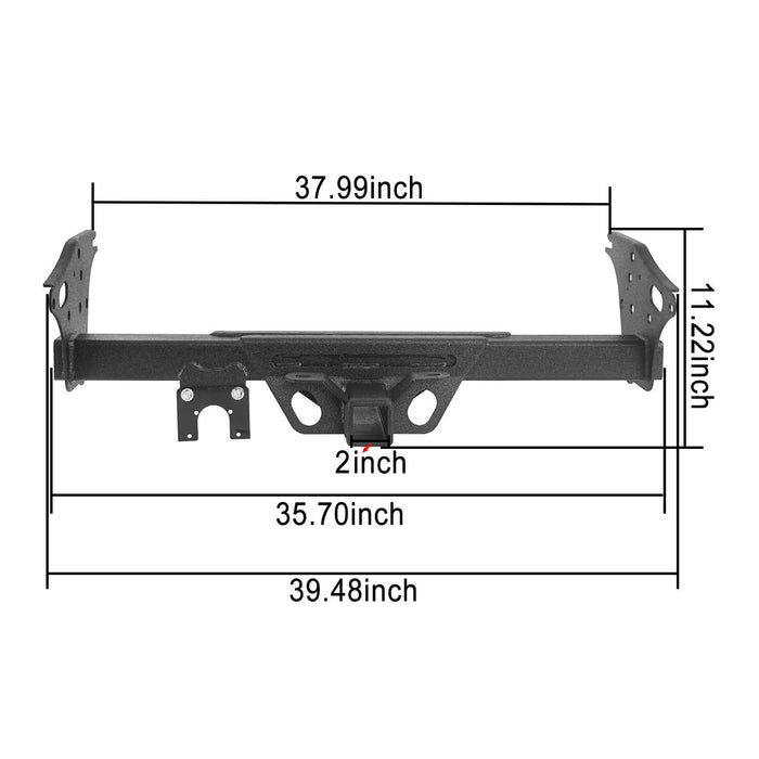 Hooke Road Toyota Tacoma Receiver Hitch w/2 inch Square Receiver Opening for 2005-2015 Toyota Tacoma u-Box Offroad 8