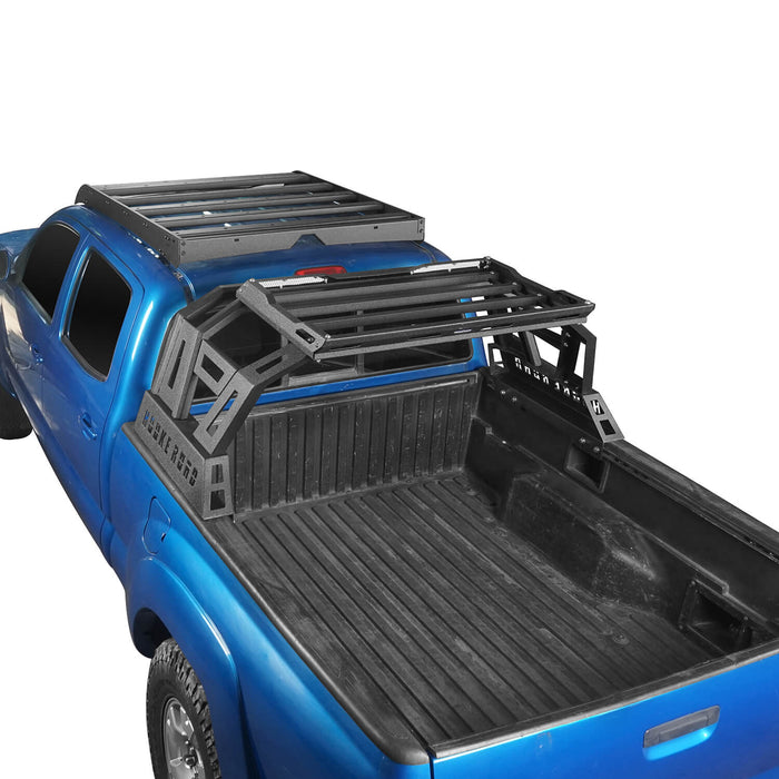 Hooke Road® Top Roof Rack Luggage Cargo Carrier & Bed Rack(05-21 Toyota Tacoma)