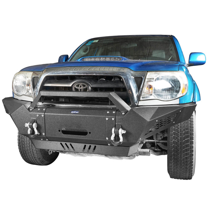 Hooke Road Toyota Tacoma Front Bumper with Winch Plate Toyota Tacoma Parts for Toyota Tacoma 2005-2015 BXG402 u-Box offroad 4
