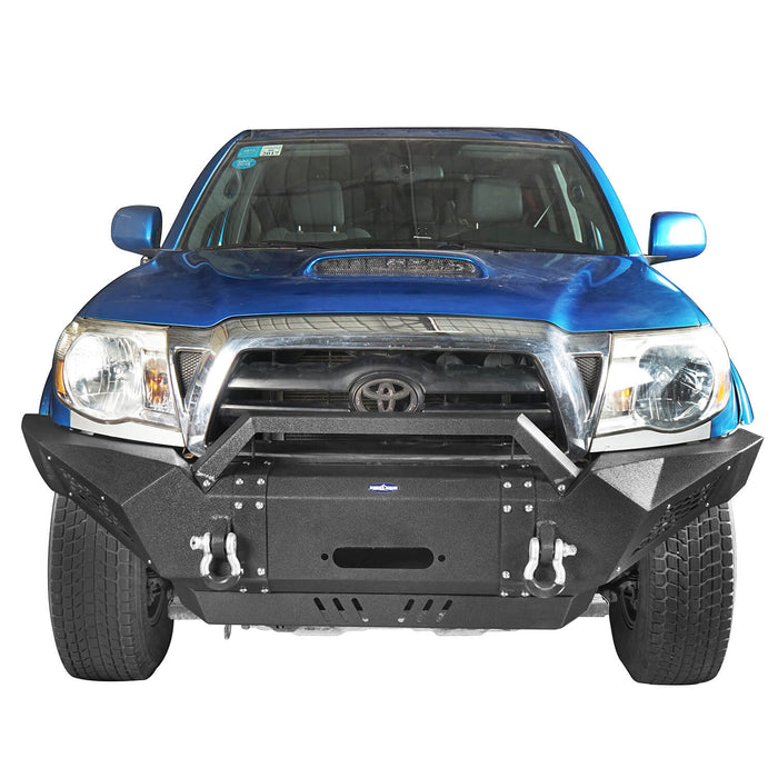 Hooke Road Toyota Tacoma Front Bumper with Winch Plate Toyota Tacoma Parts for Toyota Tacoma 2005-2015 BXG402 u-Box offroad 5