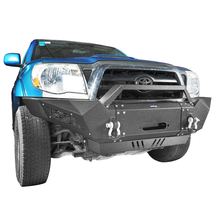 Toyota Tacoma Parts >> Hooke Road Full Width Front Bumper W Winch Plate Led Spotlights 05 15 Toyota Tacoma Gen 2