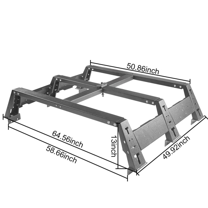 "Hooke Road Toyota Tundra Bed Rack MAX 13"" High Bed Rack for Toyota Tundra 2014-2019 BXG606 Toyota Tundra Parts u-Box offroad 11"