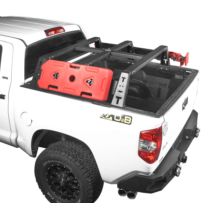 "Hooke Road Toyota Tundra Bed Rack MAX 13"" High Bed Rack for Toyota Tundra 2014-2019 BXG606 Toyota Tundra Parts u-Box offroad 2"