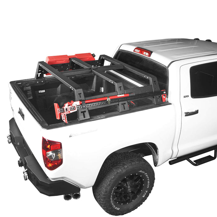 "Hooke Road Toyota Tundra Bed Rack MAX 13"" High Bed Rack for Toyota Tundra 2014-2019 BXG606 Toyota Tundra Parts u-Box offroad 6"