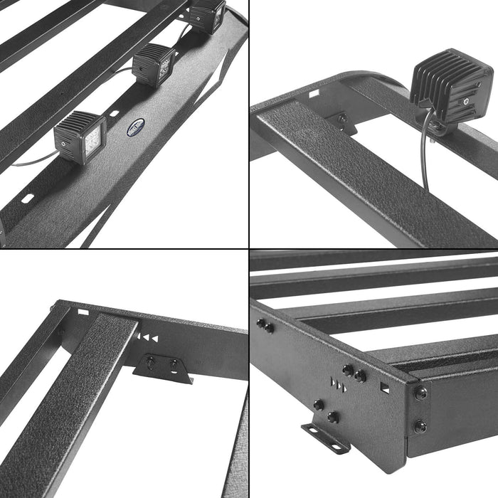 Hooke Road Toyota Tundra Crewmax Roof Rack Cargo Carrier for Toyota Tundra 2014-2019 bxg605 u-Box Offroad 11