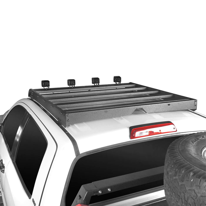 Hooke Road Toyota Tundra Crewmax Roof Rack Cargo Carrier for Toyota Tundra 2014-2019 bxg605 u-Box Offroad 4