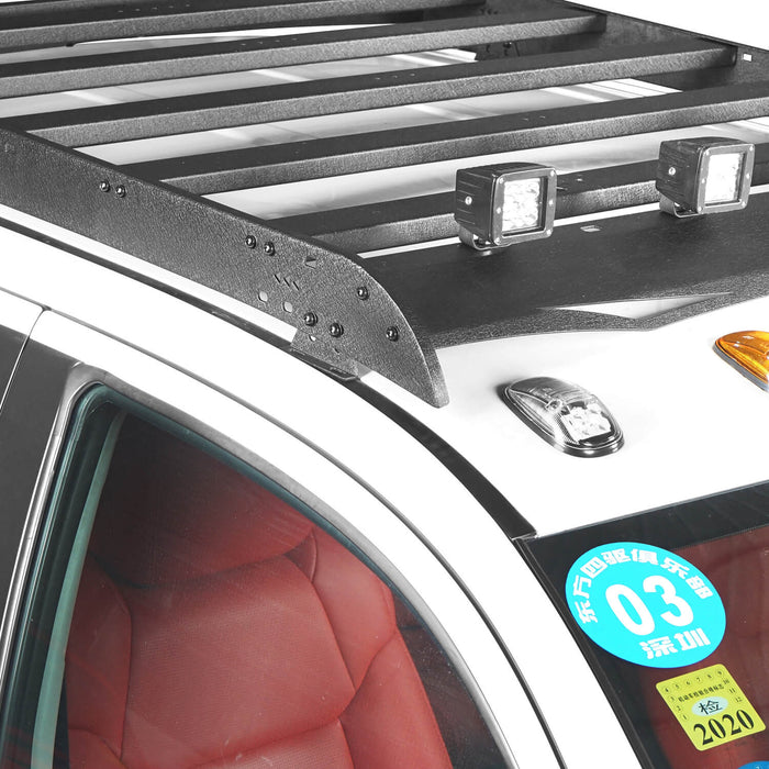 Hooke Road Toyota Tundra Crewmax Roof Rack Cargo Carrier for Toyota Tundra 2014-2019 bxg605 u-Box Offroad 5