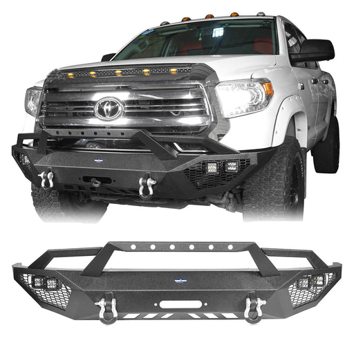 Hooke Road Toyota Tundra Front Bumper Toyota Tundra Full Width Bumper for Toyota Tacoma 2014-2019 BXG600 u-Box offroad 2