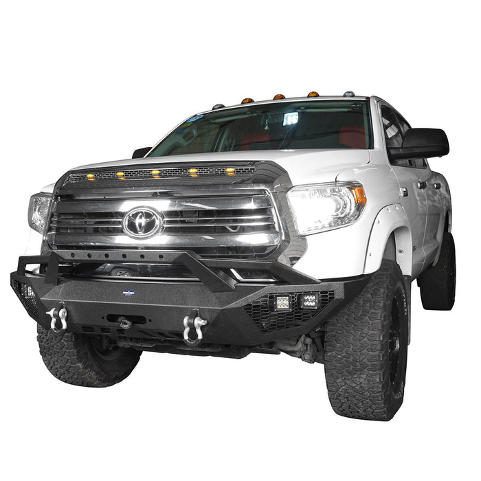 Hooke Road Toyota Tundra Front Bumper Toyota Tundra Full Width Bumper for Toyota Tacoma 2014-2019 BXG600 u-Box offroad 3