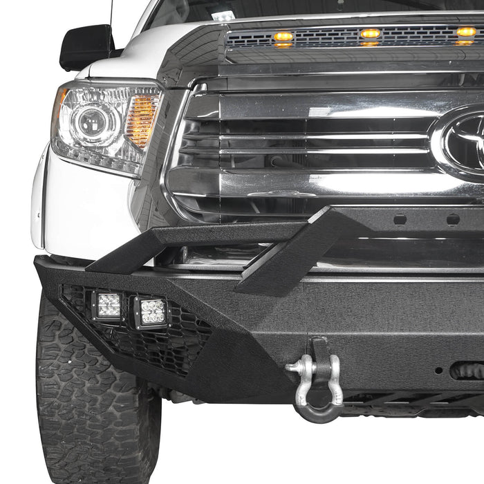 Hooke Road Toyota Tundra Front Bumper Toyota Tundra Full Width Bumper for Toyota Tacoma 2014-2019 BXG600 u-Box offroad 7