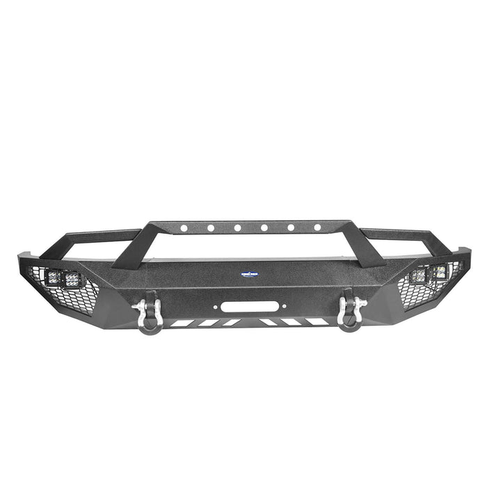 Hooke Road Toyota Tundra Front Bumper Toyota Tundra Full Width Bumper for Toyota Tacoma 2014-2019 BXG600 u-Box offroad 8