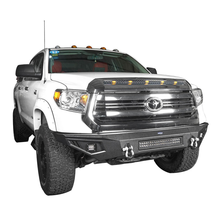 ooke Road Opar Full Width Textured Black Front Bumper for 2014-2019 Toyota Tundra Pickup BXG601 u-Box offroad 5
