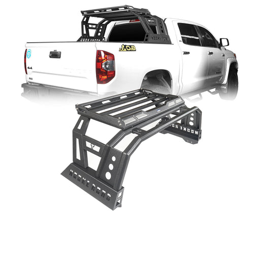 Hooke Road Toyota Tundra Roll Bar Bed Rack for 2014-2019 Toyota Tundra BXG607 u-Box Offroad 2