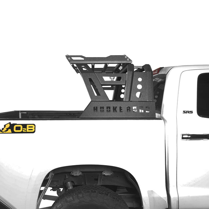 Hooke Road Toyota Tundra Roll Bar Bed Rack for 2014-2019 Toyota Tundra BXG607 u-Box Offroad 4