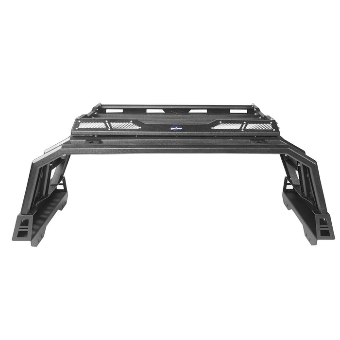 Hooke Road Toyota Tundra Roll Bar Bed Rack for 2014-2019 Toyota Tundra BXG607 u-Box Offroad 8