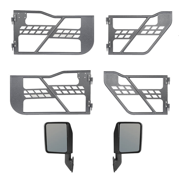 Hooke Road® 4 Door Tubular Door Guards Rock Crawler(20-21 Jeep Gladiator)