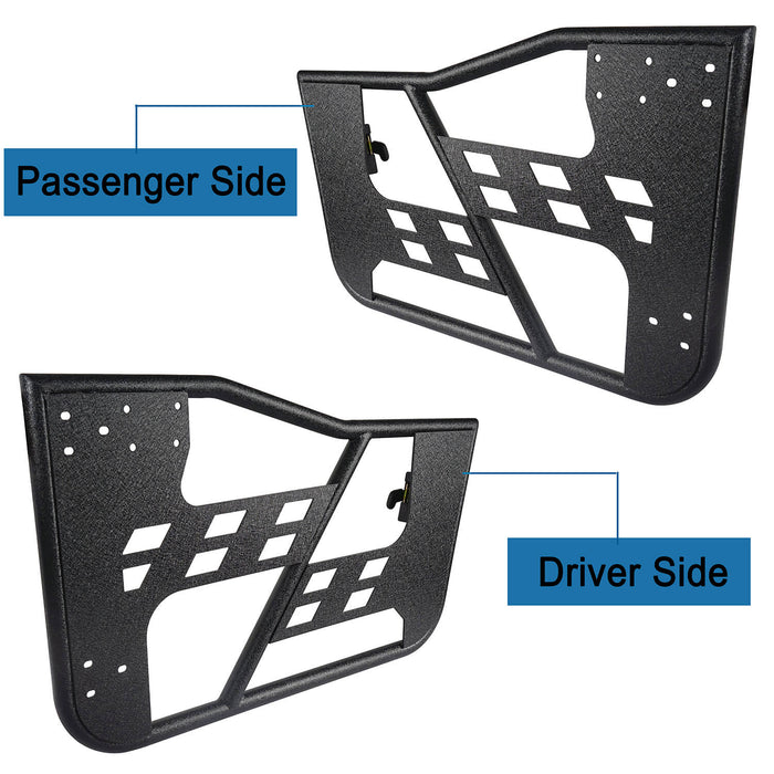 Hooke Road® Rock Crawler Tubular Door Guards w/Side Mirrors(97-06 Jeep Wrangler TJ)