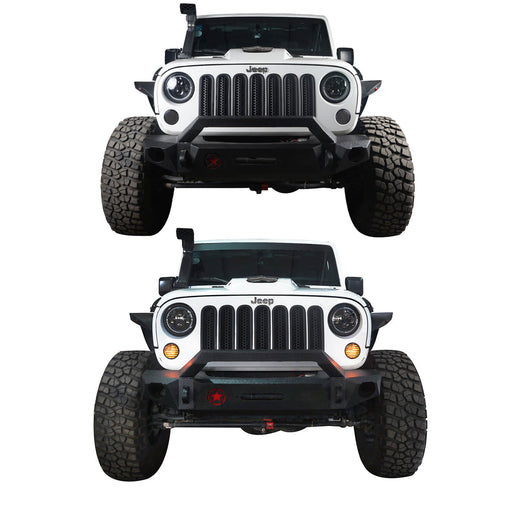 Hooke Road Opar US Flage Imaged LED Amber Turn Signals Lights lens for 2007-2018 Wrangler JK JKU u-Box 2