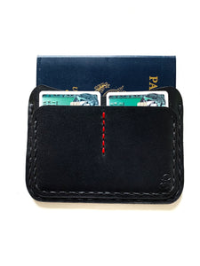 Oakland Passport Wallet | Black (Red Thread Accent)