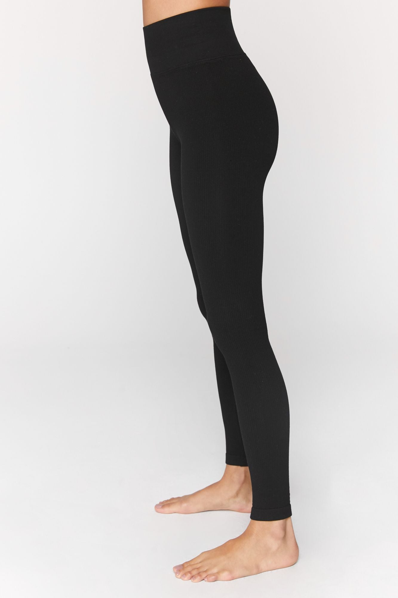 Metta Ribbed Legging - Black