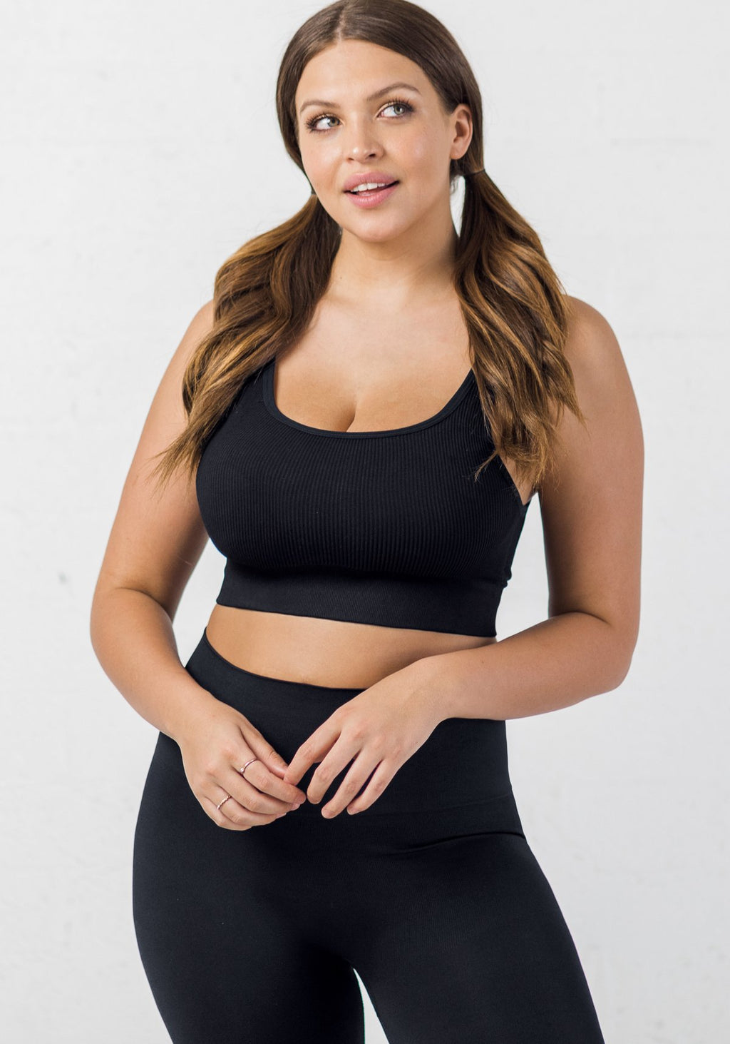 BLANQI® EVERYDAY™ Ribbed Seamless Bralette - Black
