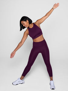 Plum High-Rise Compressive Legging