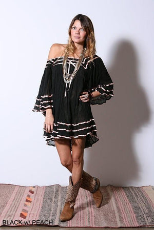 Janis Contrast Ribbon Tunic