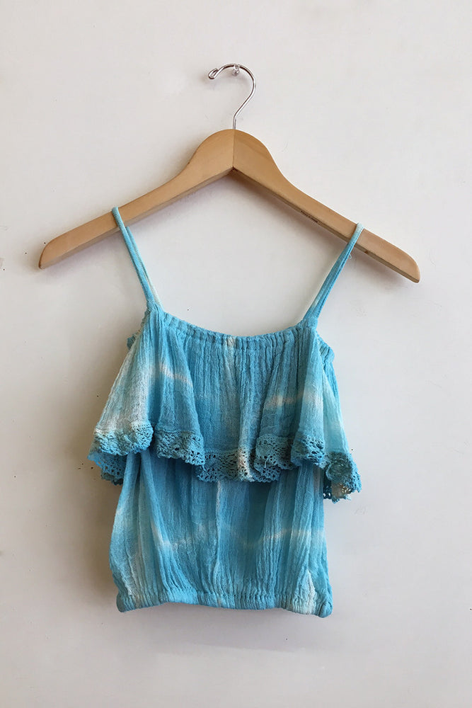 Hot Turquoise Electric Tie Dye