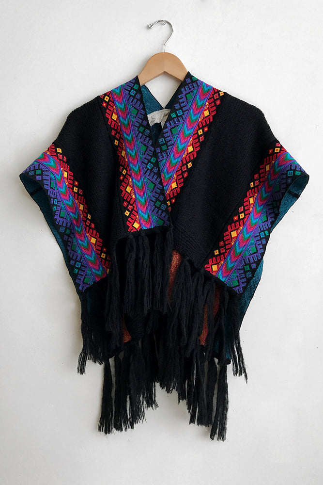 Load image into Gallery viewer, Black Huichol Knit