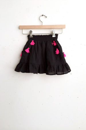 Load image into Gallery viewer, Black w/ Hot Pink Pom Poms
