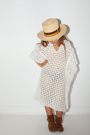 Little Crochet Mykonos Kaftan