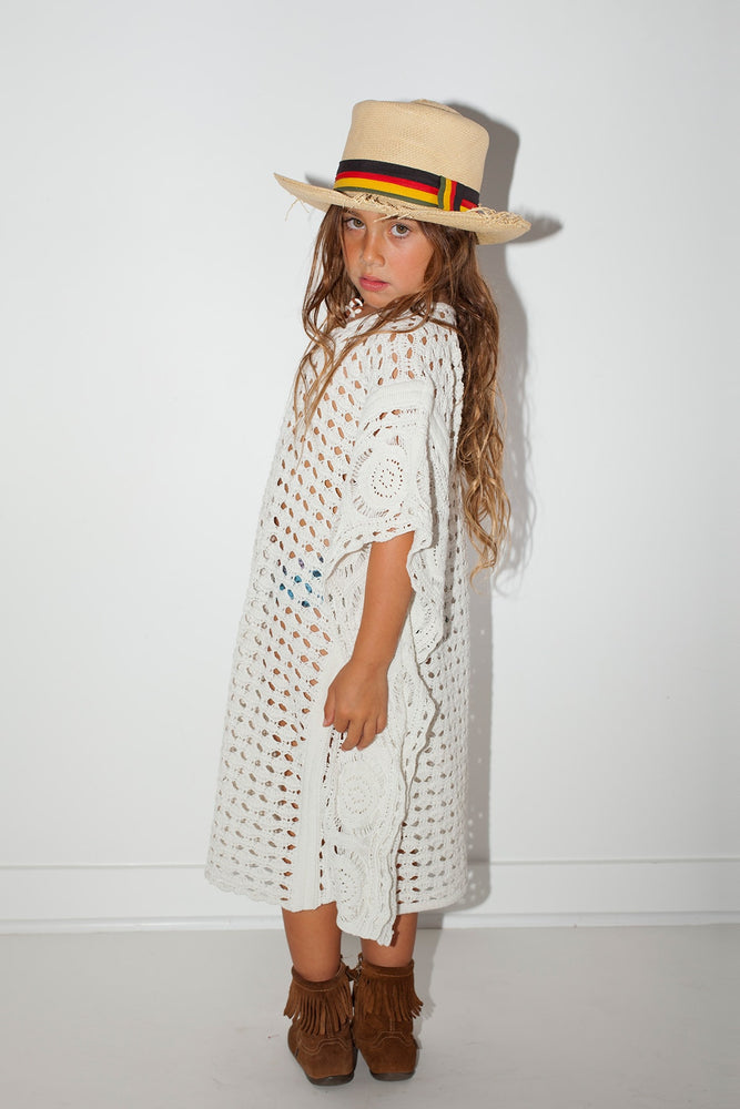 Load image into Gallery viewer, Little Crochet Mykonos Kaftan