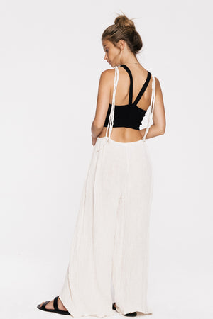 Load image into Gallery viewer, Cropped Asha Suspender Jumpsuit