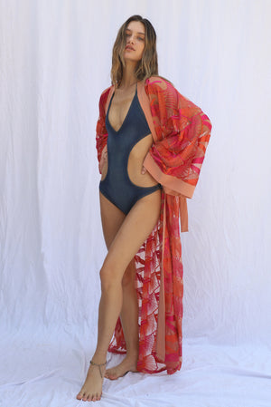 Load image into Gallery viewer, Flamingo Heights Kimono
