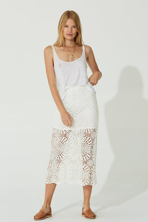 Load image into Gallery viewer, Ivory Midi Skirt