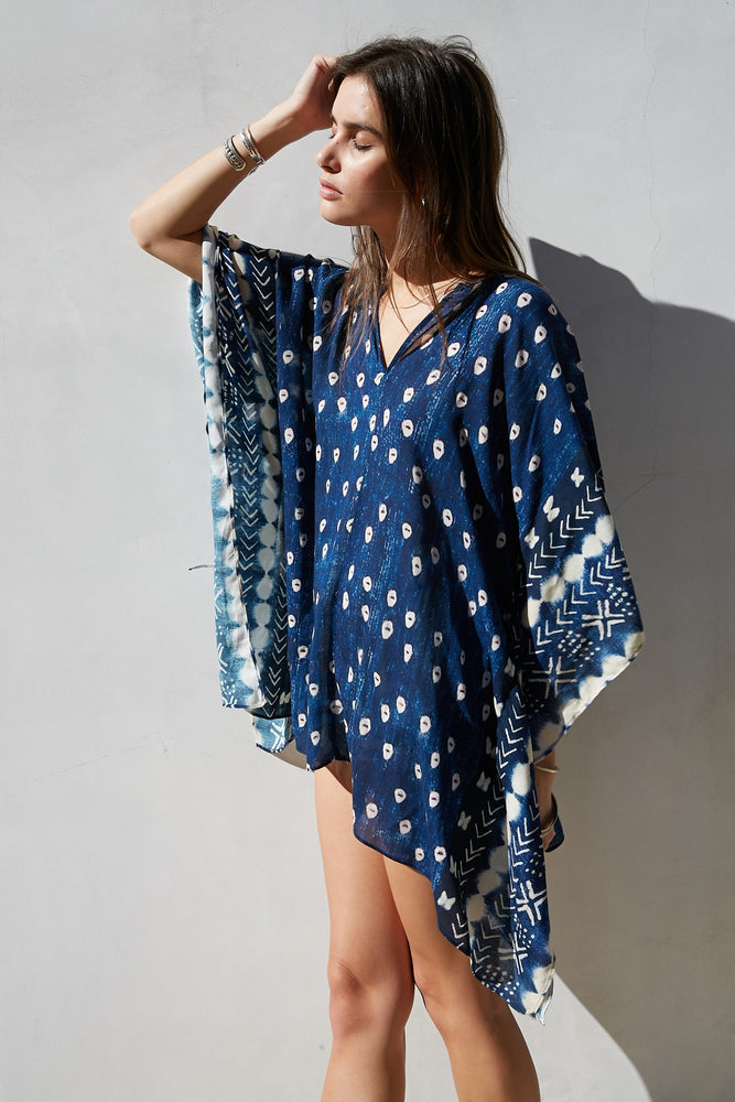 Indigo French Kaftan