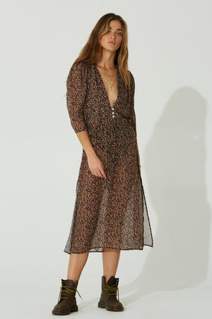 Leopard Shiva Midi Dress