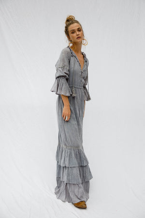 Load image into Gallery viewer, Smokey Quartz Maxi Dress