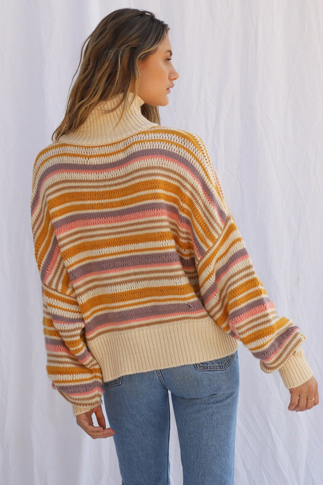 Load image into Gallery viewer, Apres-Ski Striped Pullover