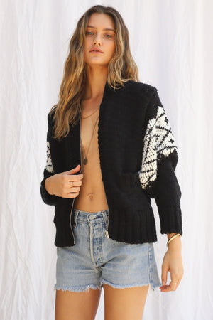 Load image into Gallery viewer, Beach Bonfire Zip Cardigan